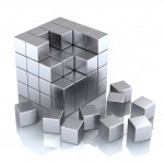 teamwork business concept - cube and blocks