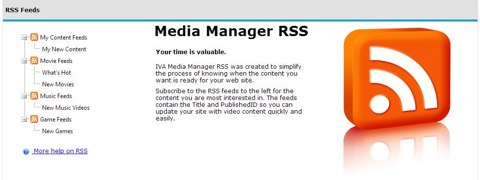 Media Manager RSS Feeds